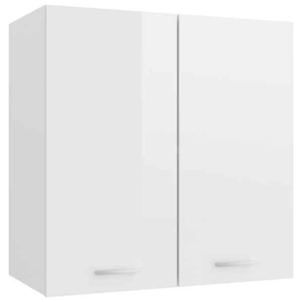 vidaXL Dulap suspendat, alb extralucios, 60 x 31 x 60 cm, PAL