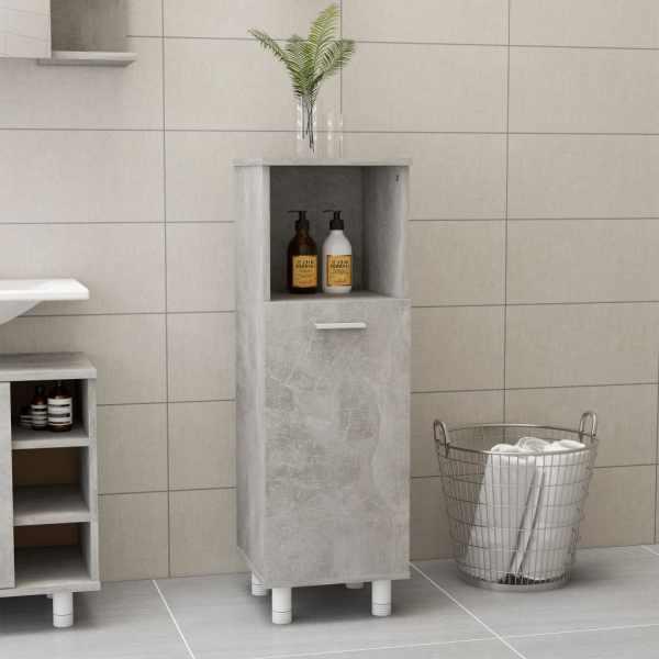 vidaXL Dulap de baie, gri beton, 30 x 30 x 95 cm, PAL