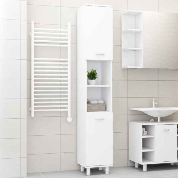 vidaXL Dulap de baie, alb, 30 x 30 x 179 cm, PAL