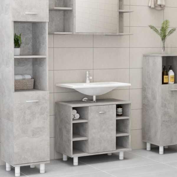 vidaXL Dulap de baie, gri beton, 60 x 32 x 53,5 cm, PAL