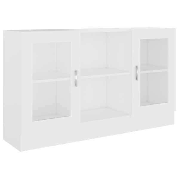 vidaXL Dulap cu vitrină, alb, 120 x 30,5 x 70 cm, PAL
