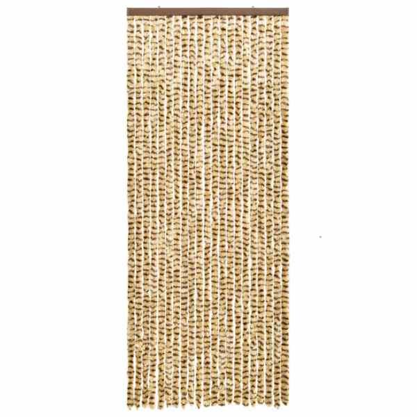 Perdea pentru insecte, bej și maro, 56 x 185 cm, chenille