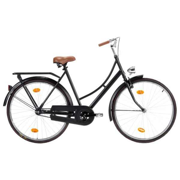 vidaXL Bicicletă olandeză, roată de 28 inci, cadru feminin 57 cm