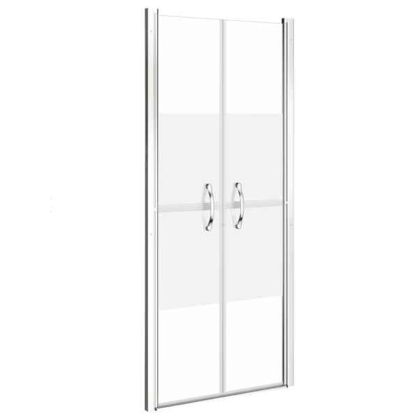 Ușă cabină de duș, jumătate mat, 81 x 190 cm, ESG