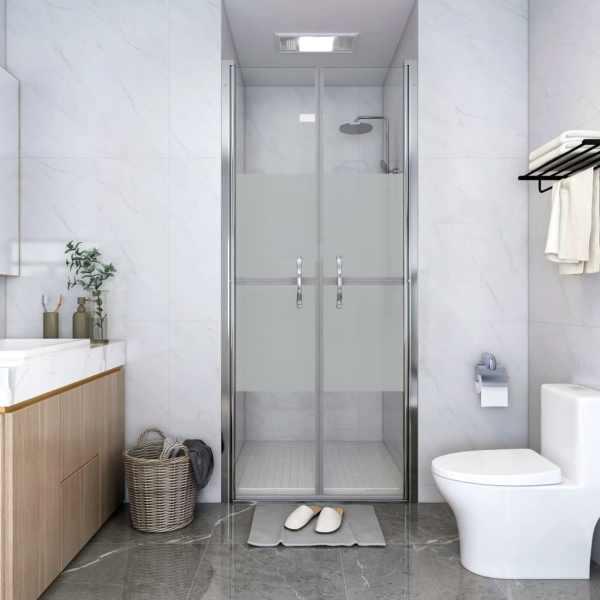 vidaXL Ușă cabină de duș, jumătate mat, 81 x 190 cm, ESG