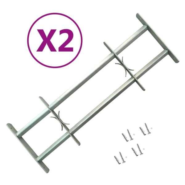 vidaXL Grilaje de siguranță ferestre, ajustabil, 2 buc., 700-1050 mm