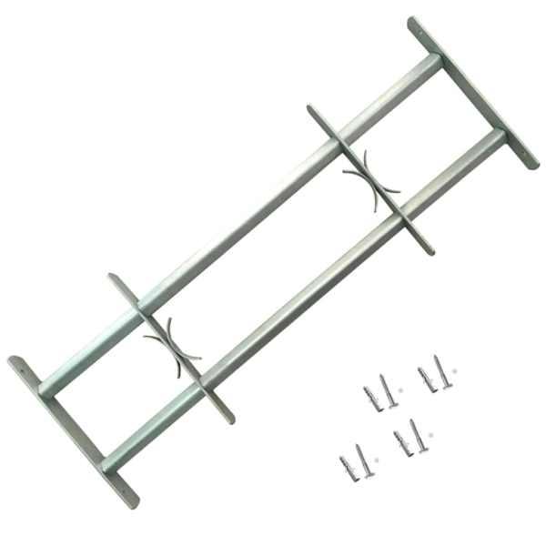 Grilaje de siguranță ferestre, ajustabil, 2 buc., 700-1050 mm