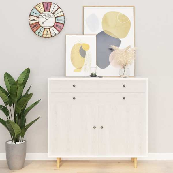 vidaXL Folii mobilier autoadezive, 2 buc., lemn alb, 500 x 90 cm, PVC