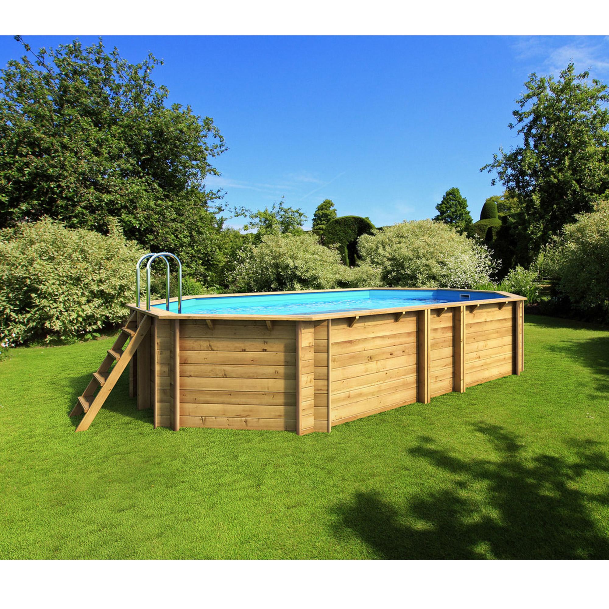 Piscine bois octogonale allong e exclusivement hors sol - Liner piscine hors sol octogonale ...