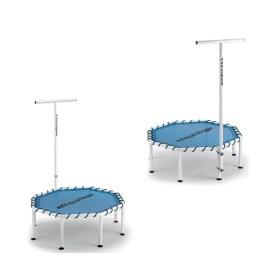trampoline aquatique avec barre d'appui