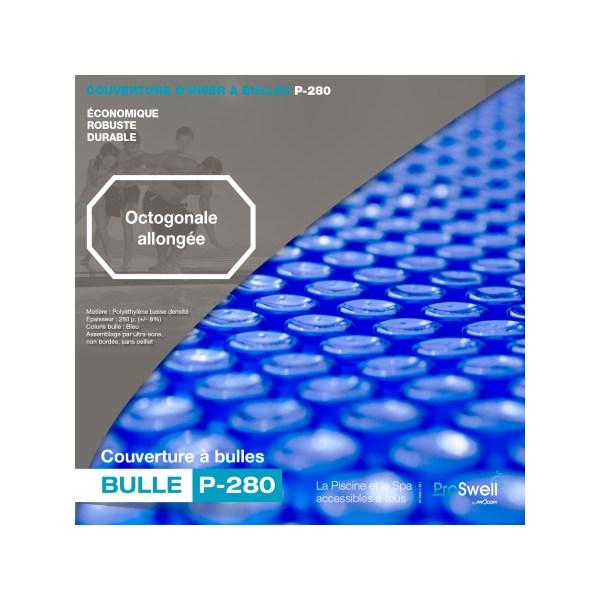 couverture à bulle pour piscine bois octogonale + 840