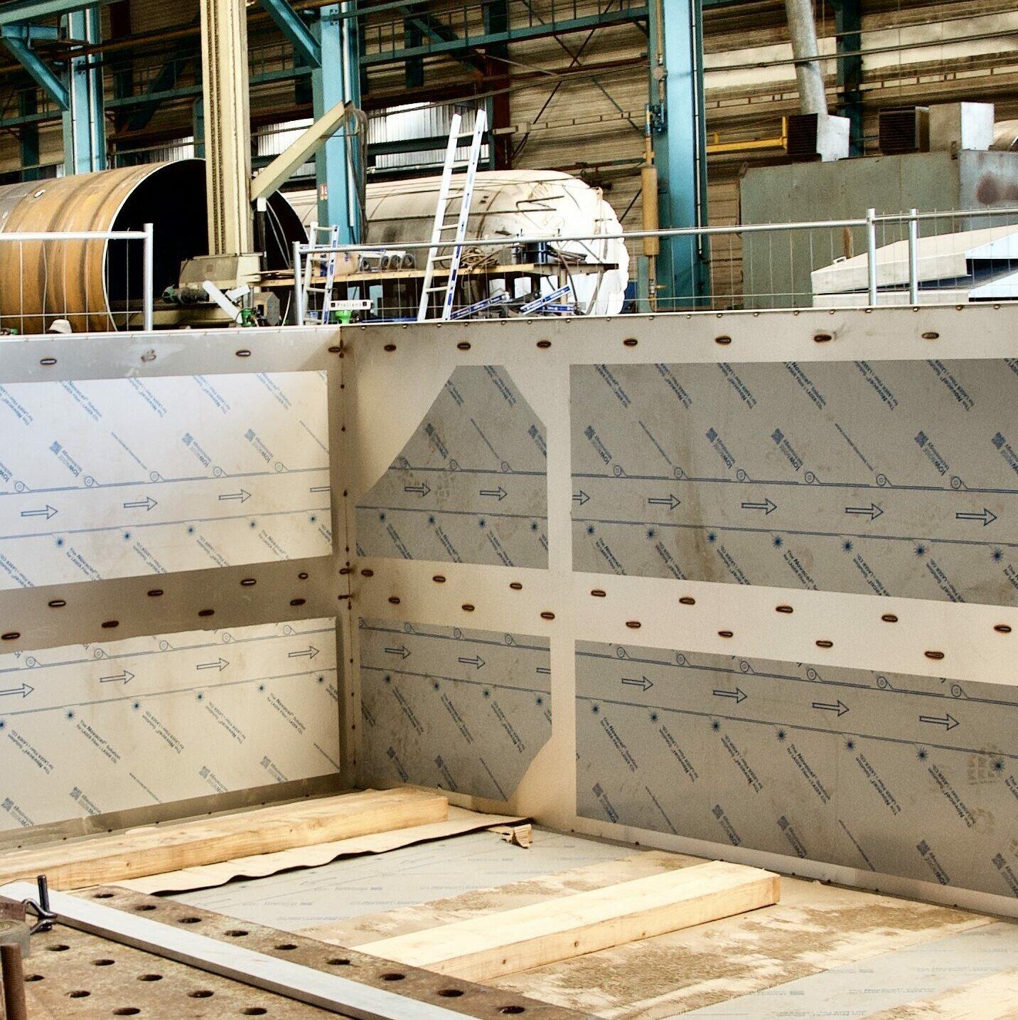détail construction en usine