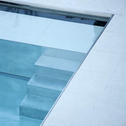 escalier droit piscine inox 316L
