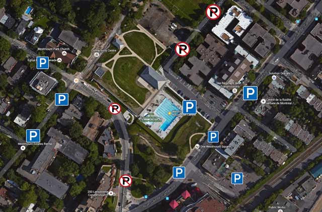 Westmount Pool Parking Map