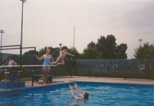 1990 Old Pool Diving Boards