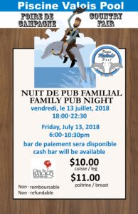 Country Fair Family Pub Night July 13 6pm to 10:30pm