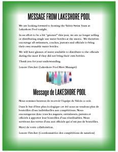 Lakeshore Swim Meet Water Bottle Memo