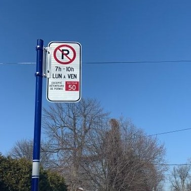Zone 50 Parking Sign