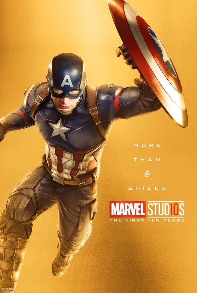 Chris Evans como Capitán América (Facebook)