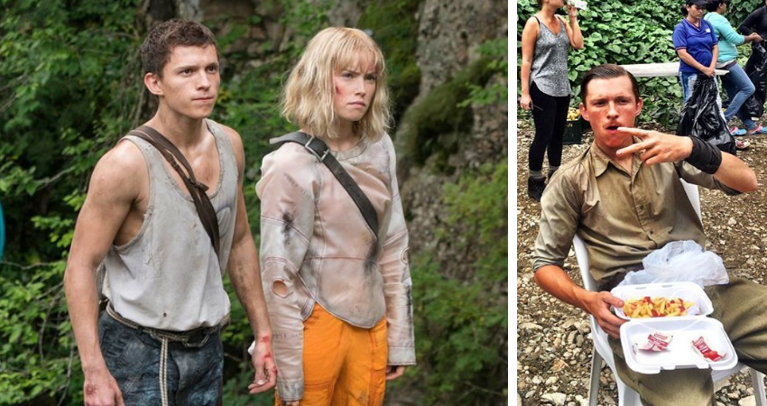 'Chaos Walking': Tom Holland embarks on a telepathic journey in a dystopian world with no women. (Source: Facebook/Daisey Ridley, Instagram/Tom Holland)