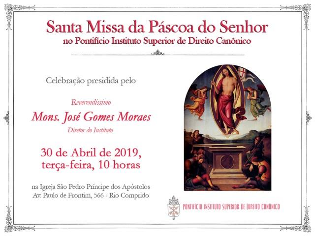 Convite Santa Missa de Páscoa