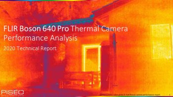 FLIR Boson thermal camera perf. analysis