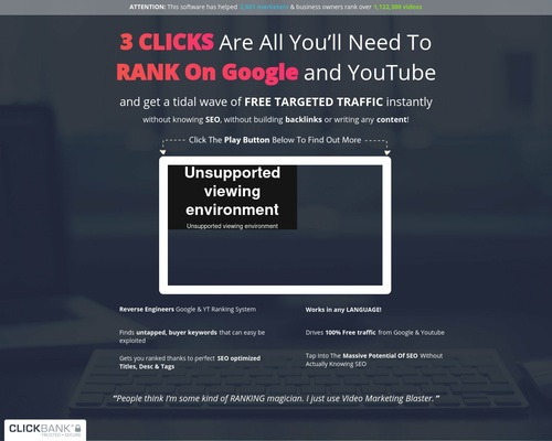 Video Marketing Blaster – Rank Videos On #1 Page Of Google And Youtube