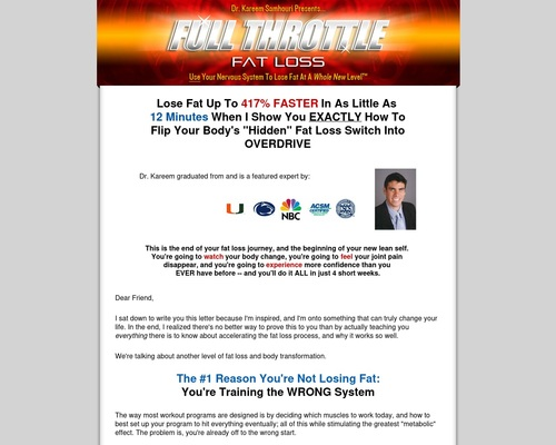 Full Throttle Fat Loss – Huge Commissions – Launching Now