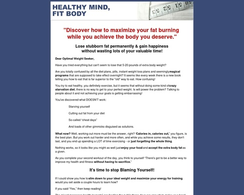 Healthy Mind Fit Body- At The Root Of Weight Loss