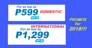 2018 promo fares domestic and international