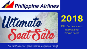 Philippine Airlines promo fares January to September 2018