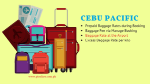 All About Cebu Pacific Check-in Baggage RATES – Prepaid, via Manage Booking, Airport Rate, Excess Baggage Fee