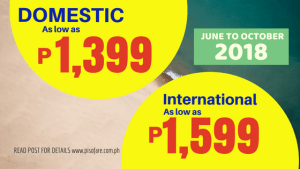 promo tickets june to october 2018
