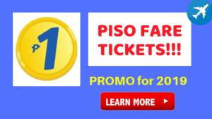 Cebu Pacific 1 Piso Base Fare Promo for 2019
