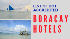 DOT Accredited Boracay Hotels and Resorts