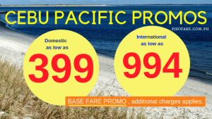 Cebu Pacific Seat Sale December 2018 to March 2019 Promo Tickets