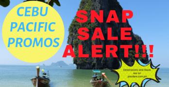 Cebu Pacific promos snap sale 2019