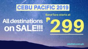 cebu pacific promo sale 2019