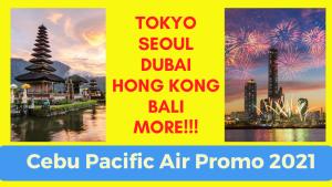 Cebu Pacific promo tokyo seoul