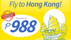 Cebu Pacific Promo to Hong Kong