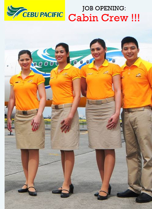 Cebu pacific cabin crew hiring 2015 in manila and for Cabin crew recruitment agency philippines