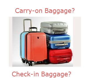Free Handcarry baggage   Check-in baggage rate
