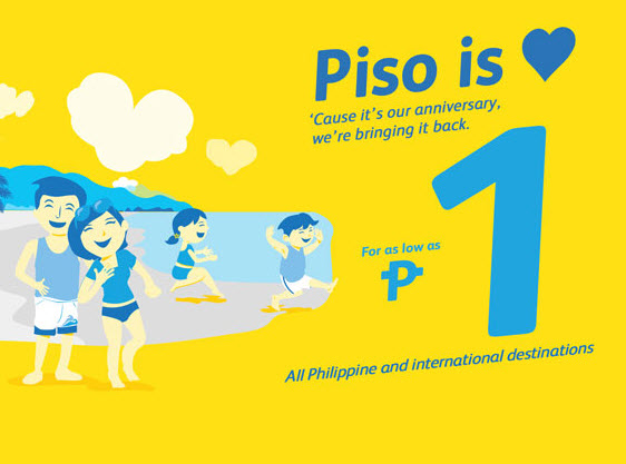 Cebu Pacific Piso Fare 2016 and 2017 Promo Available