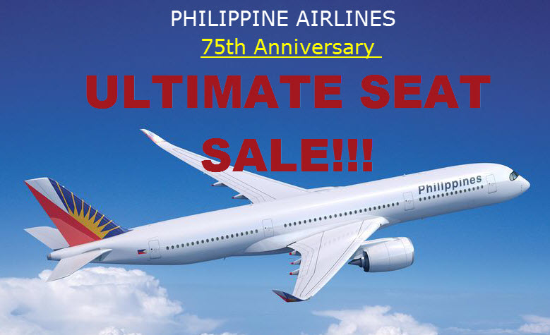 PAL Promo Fare 2016 75th Anniversary Seat Sale