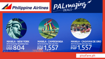 Philippine Airlines PALMAZING PROMOS for 2017 / 2018