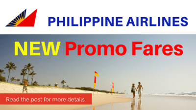 Philippine Airlines Promo Fare 2017: October, November and December