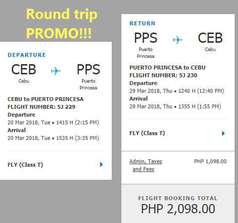 cebu to puerto princesa promo 2018