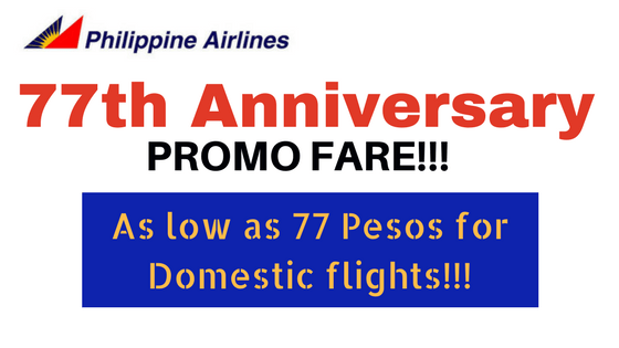 philippine airlines 77th anniversary promo domestic and international