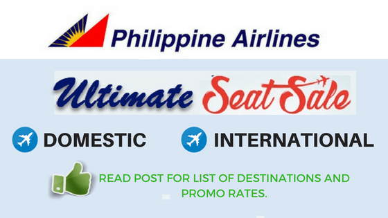 PAL ultimate seat sale 2018 to 2018 promotion