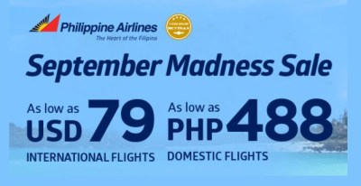 Philippine Airlines promo september madness ticket sale